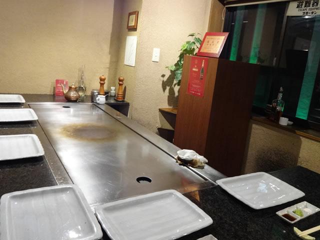 三宮神戸牛鉄板焼きアントコレットディナー写真4