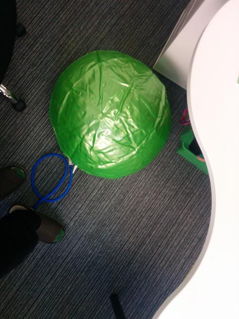オフィスのバランスボールサイズ